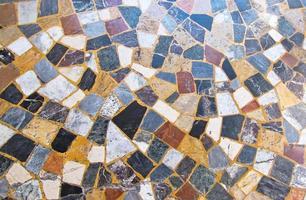 motif de sol en mosaïque de pierre photo
