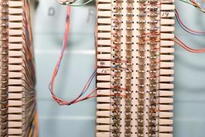 câblage du système téléphonique photo