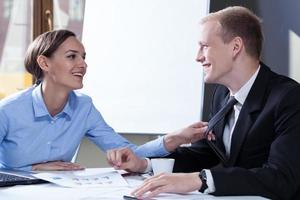 flirter avec un collègue photo