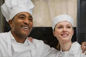 chefs souriant