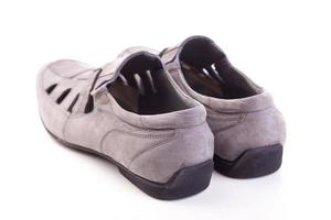 chaussures homme, isolé, blanc photo