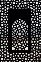 motif de fenêtre de moghul thomb photo
