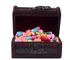 pilules assorties pour les soins de santé photo