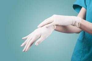 gant de médecin photo
