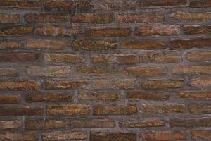 motif de fond de la texture du vieux mur de briques photo
