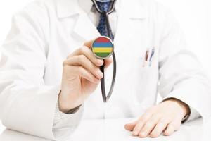 docteur, tenue, stéthoscope, drapeau, série, maurice photo