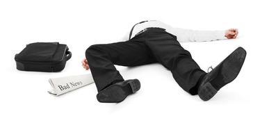 homme d'affaires gisait photo