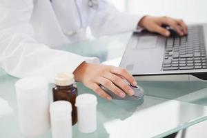 docteur, dactylographie, prescriptions photo