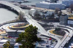 image minituarisée des travaux routiers à bergen est, norvège photo