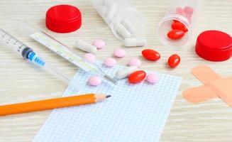 pilules renversées médecine photo