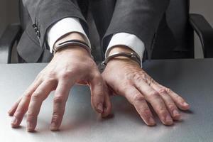 manager en otage d'entreprise avec des poignets photo
