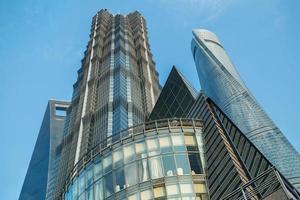 bureau d'affaires de gratte-ciel moderne, abstrait de bâtiment d'entreprise photo