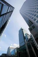 Bureau d'affaires de gratte-ciel de fenêtre, bâtiment d'entreprise à Londres, Angleterre, Royaume-Uni photo