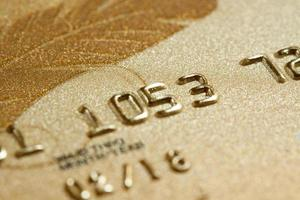 gros plan, carte de crédit