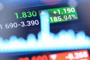 analyse du marché. photo