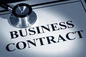 contrat commercial photo