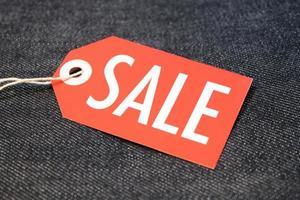 étiquette de vente photo