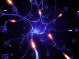 illustration de cellules nerveuses actives photo