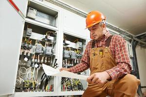 ouvrier ingénieur électricien photo