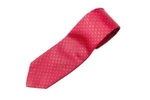 cravate rouge à pois verts photo