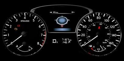 feux de tableau de bord de voiture photo