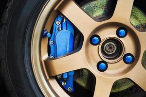 frein bleu et alliage photo