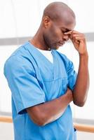 sensation de fatigue après une longue opération. photo