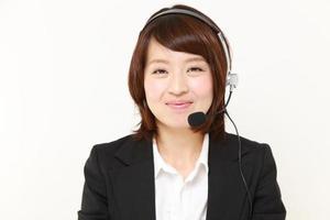 femme d'affaires du centre d'appels photo