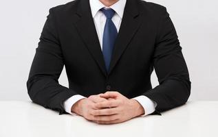 gros plan de buisnessman en costume et cravate photo