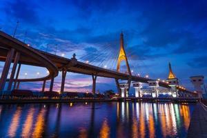 le pont de bhumibol, thaïlande