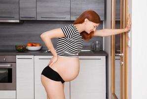 mal de dos de grossesse photo