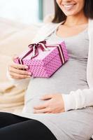présent pour le futur bébé. photo