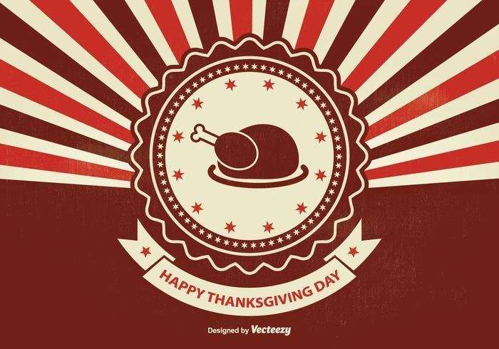 Illustration de thanksgiving rétro sunburst vecteur