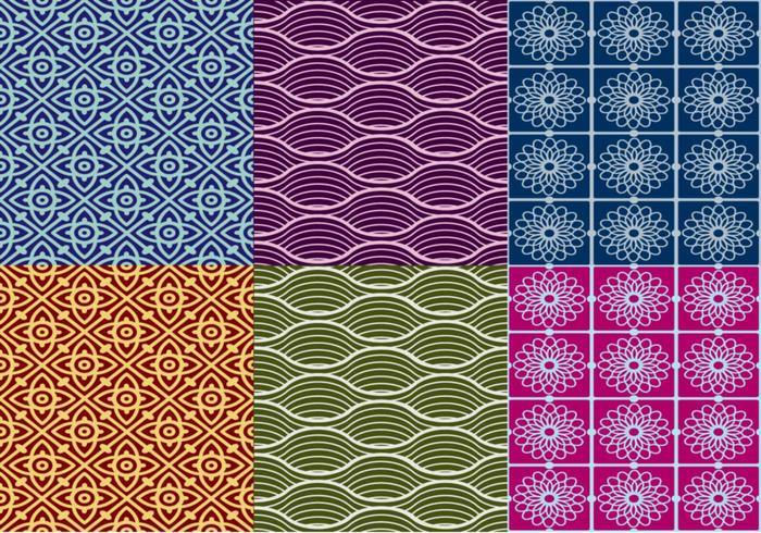 Vecteurs de motifs thaïlandais texturés vecteur