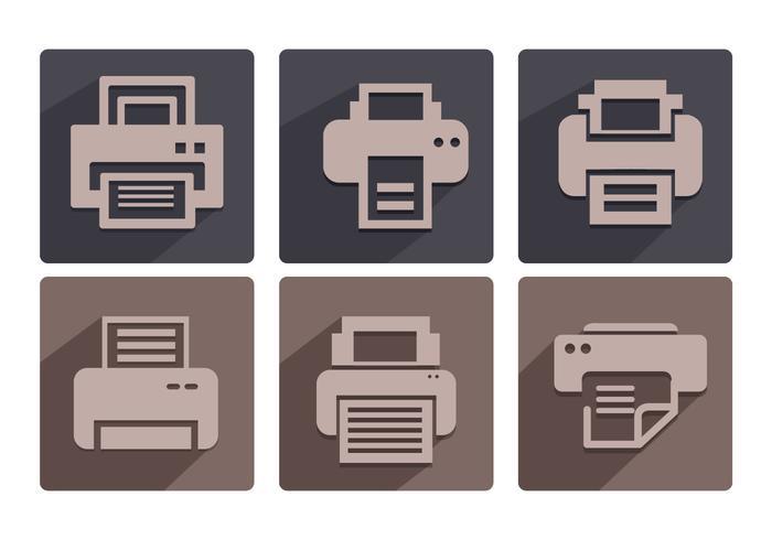 Vecteurs d'icônes de fax vecteur