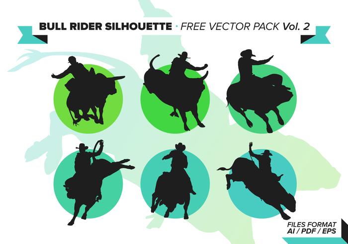 Bull rider free vector pack vol. 3