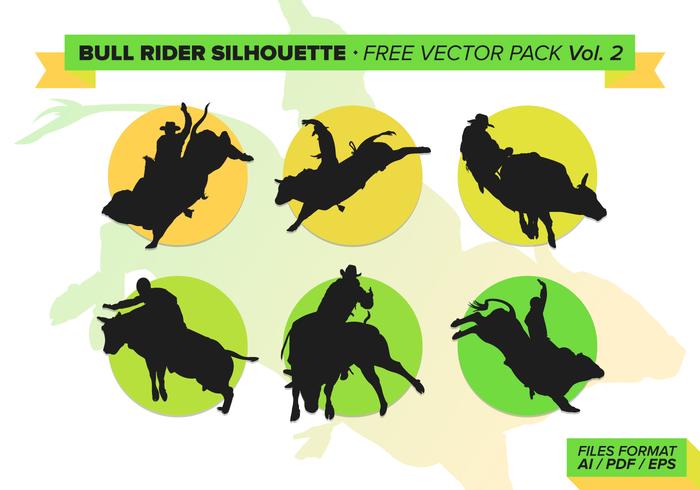 Bull rider free vector pack vol. 2