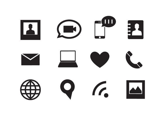 Ensemble d'icônes Web dans le vecteur
