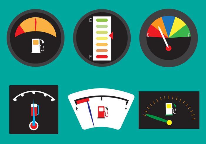 Ensemble vectoriel de jauges de carburant
