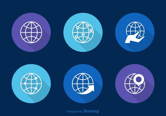 Icônes vectorielles globes libres vecteur