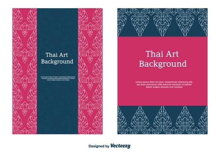 Vecteur de motif thaïlandais gratuit