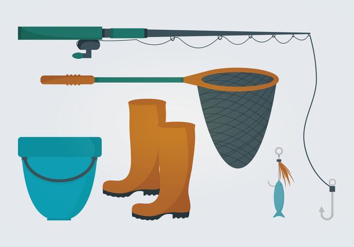 Éléments vectoriels de pêche vecteur