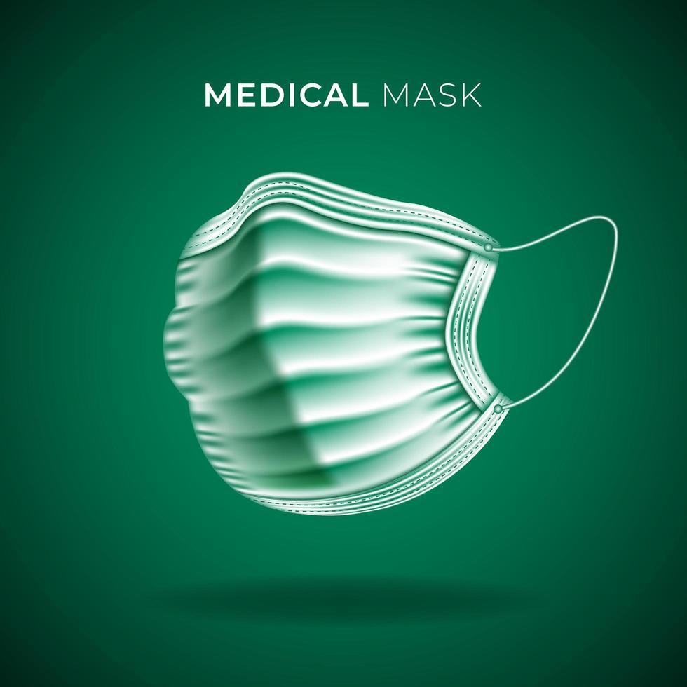 masque de protection médicale pour prévenir covid-19 vecteur
