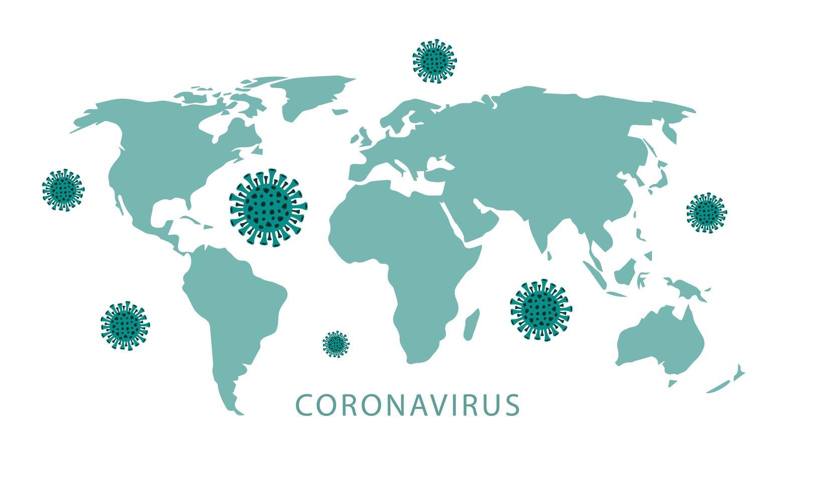 chine 2019-ncov carte de l'épidémie vecteur