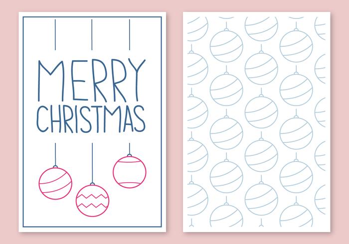 Vector de carte de Noël gratuit