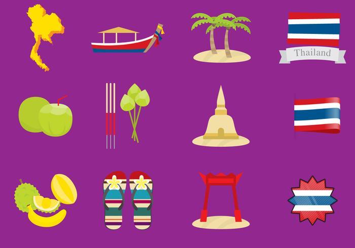 Icônes de la Thaïlande vecteur