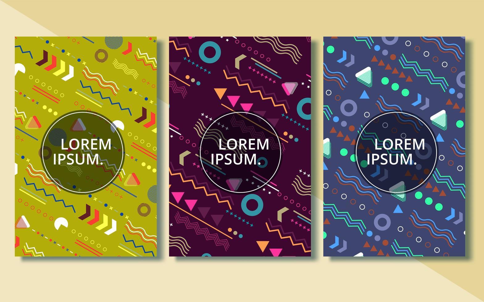 ensemble de couvertures abstraites modernes, ensemble de conception de couvertures minimales vecteur