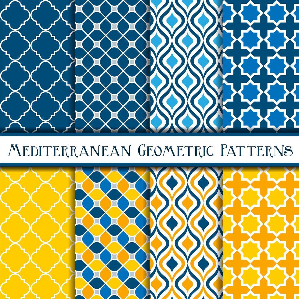 collection de motifs géométriques méditerranéens vecteur