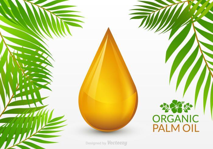 Vecteur gratuit de goutte d'huile de palme