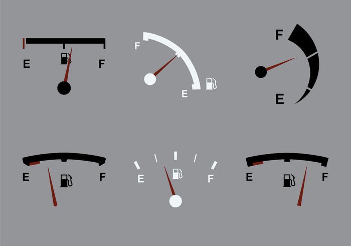 Icône vectorielle Free Fuel Gauge vecteur